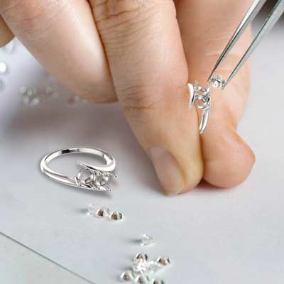 Diamond Remounting service available at Quality Jewelers
